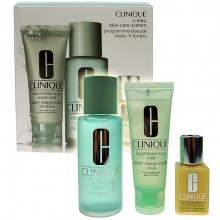Clinique 3step Skin Care System1 50ml Liquid Facial Soap Extra Mild + 100ml Clarifying Lotion 1 + 30ml DDML naisille 64059
