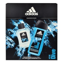 Adidas Ice Dive Edt 100ml + 250ml shower gel miehille 98322