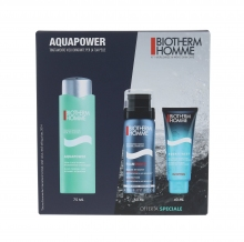 Biotherm Homme Aquapower Oligo Thermal Care Kit Skin Care Homme Aquapower Oligo-Thermal 75 ml + Homme Foam Shaver 50 ml + Shower Gel Homme Aquafitness 40 ml miehille 56998