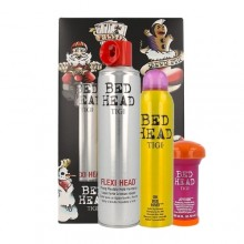 Tigi Bed Head Messed Up Kit 385 ml Bed Head Flexi Head Strong Hold Hairspray + 238 ml Bed Head Oh Bee Hive + 58 ml Bed Head Joyride Texturizing Powder Balm naisille 48127