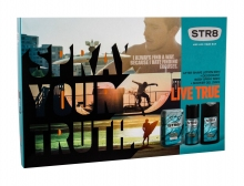 STR8 Live True Aftershave Water 50 ml + Deodorant 150 ml + Shower Gel 250 ml miehille 03489