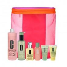 Clinique Great Skin 200ml+30ml Liquid Facial Soap + 487ml+60ml Clarifyng Lotion3 + 125ml+30ml DDMGel + bag naisille 39679