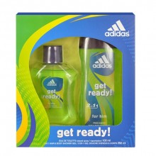 Adidas Get Ready! For Him Edt 100ml + 250ml shower gel miehille 64014