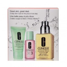 Clinique 3 Step Great Skin Care Combination Oily 125ml Dramatically Diff. Mois. Gel + 30ml Liquid Facial Soap Oily + 30ml Clarifying Lotion 3 naisille 76049