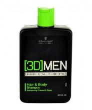 Schwarzkopf 3DMEN Shampoo 250ml miehille 64487