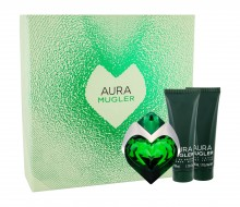 Thierry Mugler Aura Edp 30 ml Refillable + Shower Milk 50 ml + Body Lotion 50 ml naisille 33038