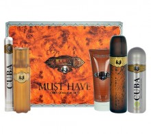 Cuba Gold Edt 100ml + 100ml aftershave lotion + 200ml shower gel + 200ml deodorant + 35ml edt miehille 37100