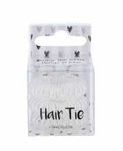 2K Hair Tie Cosmetic 3ks Clear naisille 42113