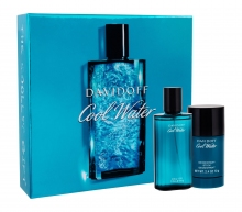 Davidoff Cool Water Edt 75 ml + Deostick 75 ml miehille 31100
