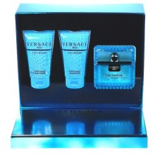 Versace Man Eau Fraiche Edt 50ml + 50ml Shower gel + 50ml Shampoo miehille 10765