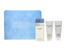 Dolce&Gabbana Light Blue Edt 100ml + 100ml Body cream + 100ml Shower gel naisille 60296
