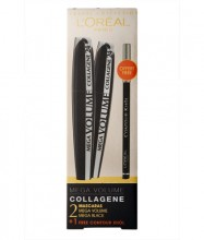L´Oréal Paris Mega Volume Collagene 24h 2x 9 ml Mascara Mega Volume Collagene 24h + 2g Eye Contour Khol Black naisille 09180