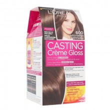 L´Oréal Paris Casting Creme Gloss Hair Color 1pc 600 Light Brown naisille 34850
