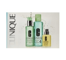 Clinique 3 Step Skin Start Care Oily 4x2ml Dramatically Diff. Mois. Gel + 4x2ml Liquid Facial Soap + 4x2ml Clarifying Lotion 4 naisille 66022