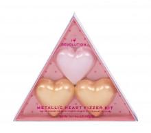 Makeup Revolution London I Heart Revolution Heart Fizzer 1 x 40 g + Heart Fizzer 2 x 40 g Shea Butter Rose naisille 37867