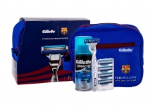 Gillette Mach3 Turbo Shave Machine With One Head 1 pcs + Spare Heads 4 pcs + Shave Gel Extra Comfort 75 ml + Cosmetic Bag miehille 35258