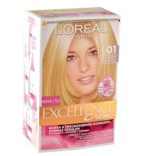 L´Oréal Paris Excellence Creme Hair Color 48ml 01 Lightest Natural Blonde naisille 17404