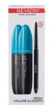 Revlon Mega Multiplier Mascara 2 x 8,5 ml + Eye Pencil Colorstay 0,28 g Black 801 Blackest Black naisille 24000