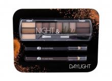 2K Night & Day Eye Shadow Palette 8,16 g + Eyeliner Pencil 0,6 g Black + Eyeliner Pencil 0,6 g Brown Daylight naisille 44384