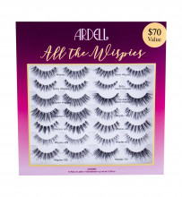 Ardell Wispies Lashes 14 pairs + Lash Glue Duo 1 g Black naisille 48139