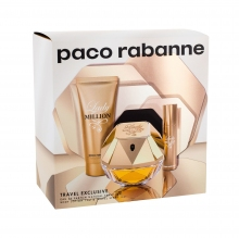 Paco Rabanne Lady Million Edp 80 ml + Body Lotion 75 ml + Edp 10 ml naisille 59886