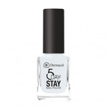 Dermacol 5 Day Stay Longlasting Nail Polish Cosmetic 11ml 01 Snow White naisille 59217