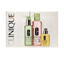 Clinique 3 Step Skin Start Care Combination Oily 4x2ml Dramatically Diff. Mois. Gel + 4x2ml Liquid Facial Soap + 4x2ml Clarifying Lotion 3 naisille 66015