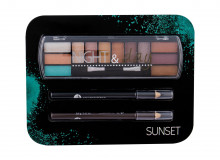 2K Night & Day Eye Shadow Palette 8,16 g + Eyeliner Pencil 0,6 g Black + Eyeliner Pencil 0,6 g Brown Sunset naisille 44407