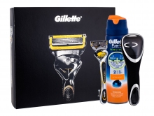 Gillette Fusion Proshield Shaver with one head 1 pc + shaving gel Fusion Proglide Sensitive Active Sport 170 ml + shaver case 1 pc miehille 31540