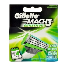 Gillette Mach3 Replacement blade 4pc miehille 37896