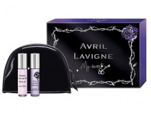 Avril Lavigne Mini Set 10ml Black Star + 10ml Forbidden Rose naisille 61960