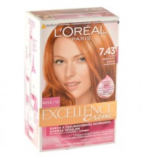 L´Oréal Paris Excellence Creme Hair Color 48ml 7,43 Dark Copper Gold Blonde naisille 16742