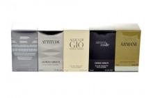 Giorgio Armani Mini Set 4ml Edt Diamonds + 5ml Edt Attitude + 5ml Edt Acqua di Gio + 4ml Edt Black Code + 7ml Edt Eau Pour Homme (2013) miehille 16846