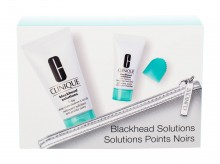Clinique Blackhead Solutions Soothing Cleanser 30 ml + Deep Pore Cleans & Scrub Self-Heating Blackhead Extractor 7 ml + Cosmetic Bag naisille 83317
