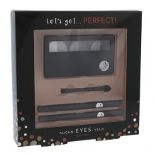 2K Let´s Get Perfect! Eyeshadow Pallete of Eyeshadow 3 x 2,2 g + Applicator of eye shadow 1 pc + Eye pencil 0,2 g 086 + Eye pencil 0,2 g 087 Grey naisille 41635