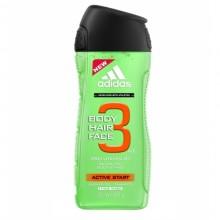 Adidas 3in1 Active Start Shower gel 250ml miehille 26828
