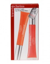 Clarins Instant Light 12ml Lip Perfector 01 + 12ml Lip Perfector 02 01 Rose Shimmer naisille 01889