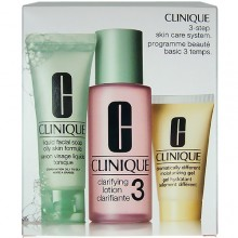 Clinique 3step Skin Care System3 50ml Liquid Facial Soap Oily Skin + 100ml Clarifying Lotion 3 + 30ml DDMGel naisille 64073