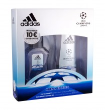 Adidas UEFA Champions League Edt 50 ml + Shower Gel 250 ml miehille 19336