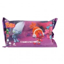 DreamWorks Trolls Hand & Face Wipes Cosmetic 72ks miehille 34641