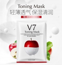 Rosena V7 Sheet mask with Vitamins and Fruit extracts 1tk