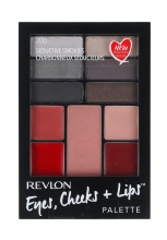 Revlon Eyes, Cheeks + Lips Complete Make-up Palette 200 Seductive Smokies naisille 39057