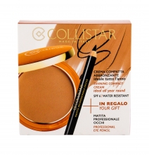 Collistar Tanning Compact Cream Cream Powder 9 g + Eyeliner 0,80 g 2 Bahamas naisille 61029