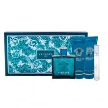 Versace Eros Edt 100 ml + Aftershave Balm 100 ml + Shower Gel 100 ml + Edt 10 ml miehille 36284