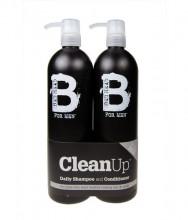 Tigi Bed Head Men 750ml Bed Head Men Clean Up Shampoo + 750ml Bed Head Men Clean Up Conditioner miehille 59222